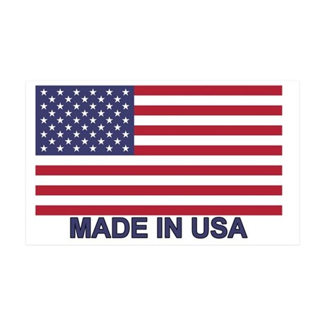 usa-flag-madeinusa 35x21 Wall Decal