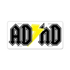 adhd Aluminum License Plate