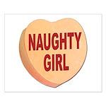 Naughty Girl Valentine Heart Small Poster