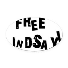 free lindsay black Oval Car Magnet