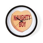 Naughty Boy Valentine Heart Wall Clock