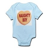 Naughty Boy Valentine Heart Infant Bodysuit