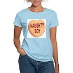 Naughty Boy Valentine Heart Women's Pink T-Shirt