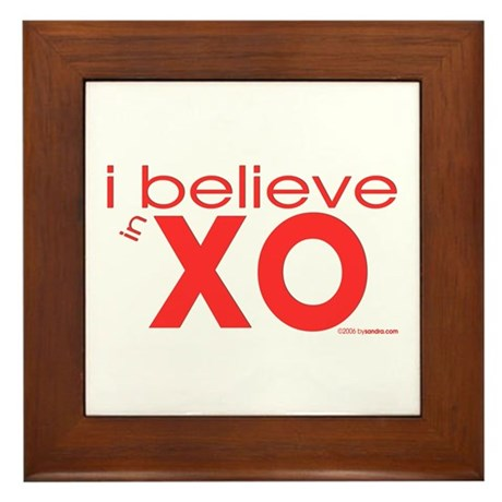 I believe in Hugs & Kisses Framed Tile