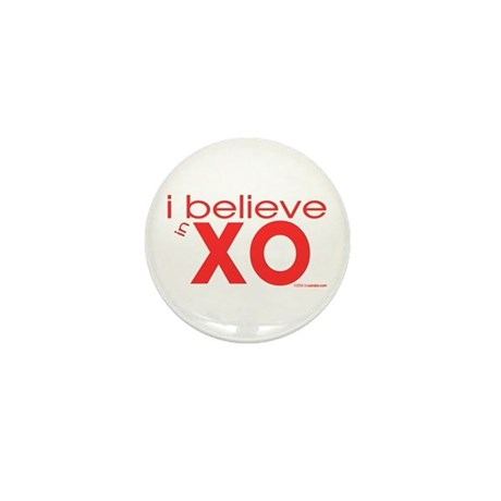 I believe in Hugs & Kisses Mini Button (100 pack)
