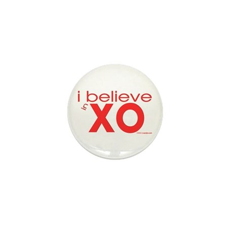 I believe in Hugs & Kisses Mini Button