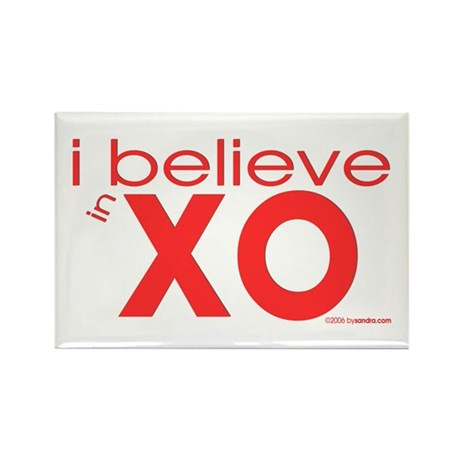 I believe in Hugs & Kisses Rectangle Magnet (10 pa