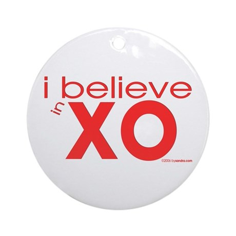 I believe in Hugs & Kisses Ornament (Round)