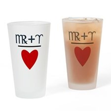 Virgo + Aries = Love Drinking Glass