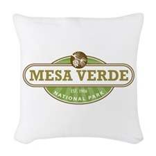 Mesa Verde National Park Woven Throw Pillow