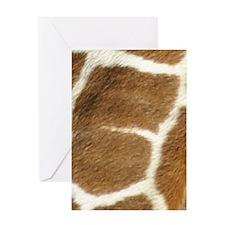 giraffe print Greeting Cards