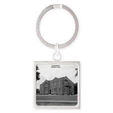Z-08-Irving School Square Keychain