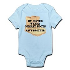 Navy Brother Sister Desert Combat Boots Body Suit