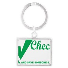 Organ-Donor-Check-the-Box-blk Landscape Keychain