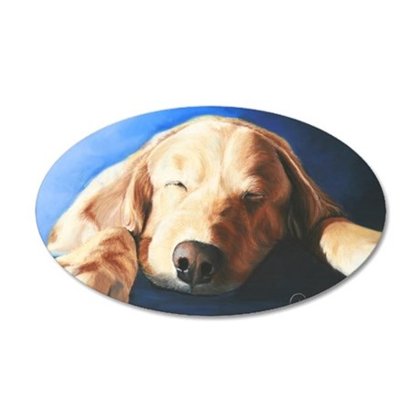 Golden Retriever 2 by Dawn S 35x21 Oval Wall Decal