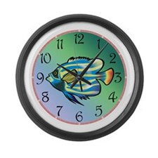 Tropical Fish Large Wall Clock