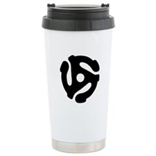 45 Record Adapter Travel Mug
