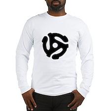 45 Record Adapter Long Sleeve T-Shirt