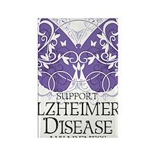 Alzheimers-Butterfly Rectangle Magnet