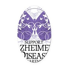 Alzheimers-Butterfly Oval Car Magnet