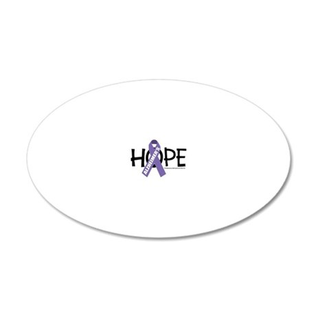 Alzheimers-Hope 20x12 Oval Wall Decal