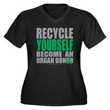Recycle-Your Women's Plus Size Dark V-Neck T-Shirt