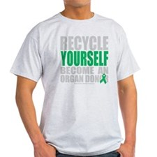 Recycle-Yourself-Organ-Donor-blk T-Shirt