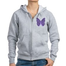 Butterfly General Cancer Zip Hoody