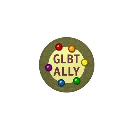 Ally Baubles -GLBT- Mini Button