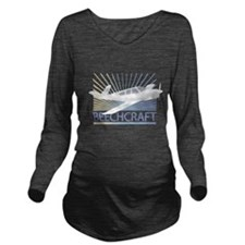 Aircraft Beechcraft Long Sleeve Maternity T-Shirt