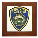 Stockton Police Framed Tile