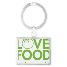 13368_love_food_hate_waste Landscape Keychain