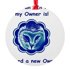 cafepress owl blue Round Ornament