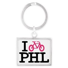 bike phl cafe press.eps Landscape Keychain