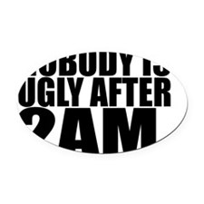 2am Oval Car Magnet