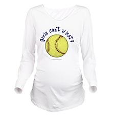 softball-blue Long Sleeve Maternity T-Shirt