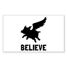 Flying Pig Believe Decal
