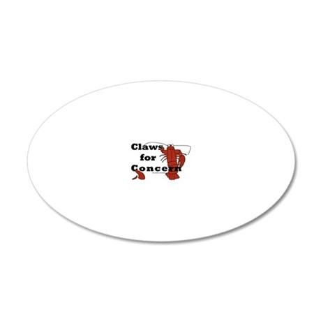 clawsforconcern2 20x12 Oval Wall Decal