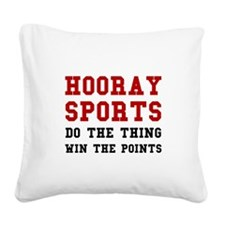 Hooray Sports Square Canvas Pillow