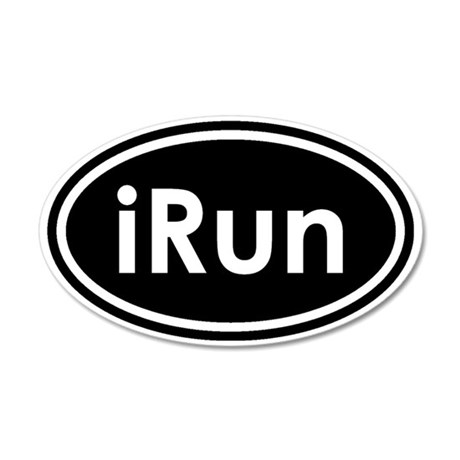 irun 35x21 Oval Wall Decal