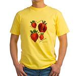 Strawberries Yellow T-Shirt