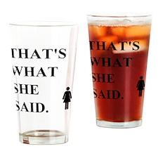 twss Drinking Glass