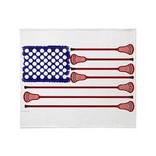 Lacrosse Americas Game Throw Blanket