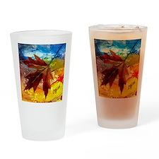 leaf design by gg Drinking Glass