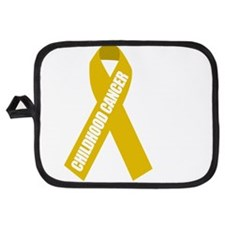 Childhood-Cancer-Hope-blk Potholder