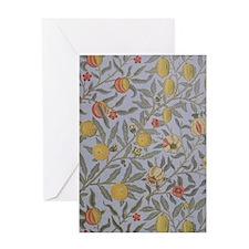 Morris Fruit Design Greeting Card