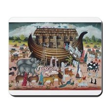 Cute Noah and the ark Mousepad
