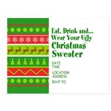 Ugly christmas party 5 x 7 Flat Cards
