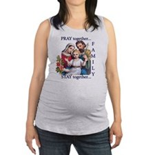 pray_together_12x12-clear Maternity Tank Top