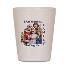 pray_together_12x12-clear Shot Glass